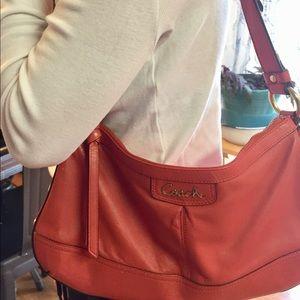 Coach Deep Coral Small Hobo Handbag